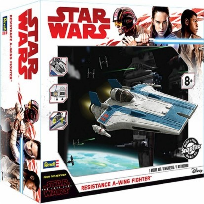Star Wars The Last Jedi: Resistance A-Wing Fighter w/Sound & Lights (Build & Play Snap)