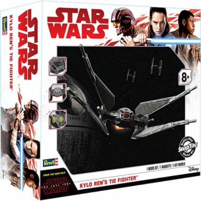 Star Wars The Last Jedi: Kylo Rens Tie Fighter w/Sound & Lights (Build & Play Snap)