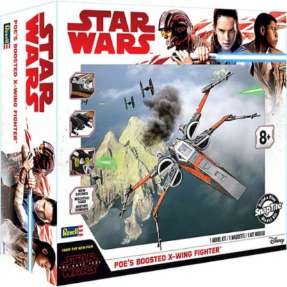 Star Wars The Last Jedi: Poes Boosted X-Wing Fighter w/Sound (Build & Play Snap)
