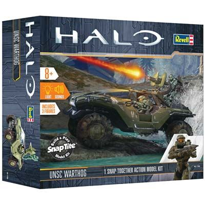 HALO: UNSC Warthog Vehicle w/Light & Sound (Snap)