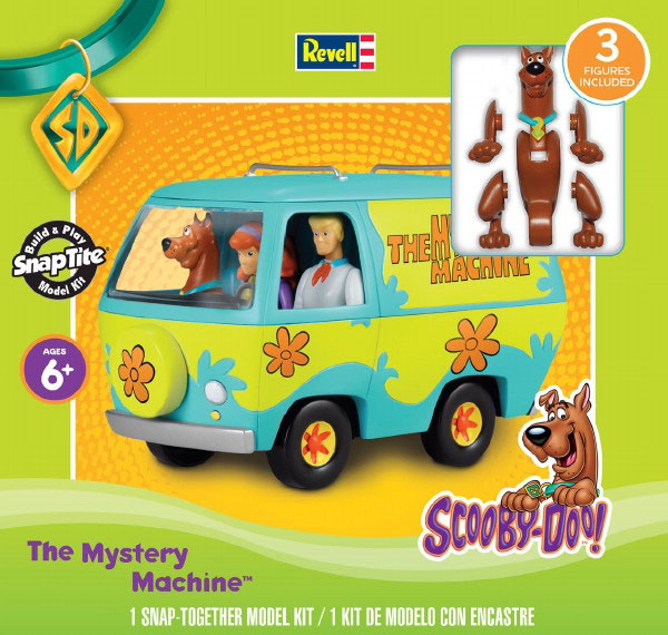 Scooby Doo The Mystery Machine w/Figures (Snap)