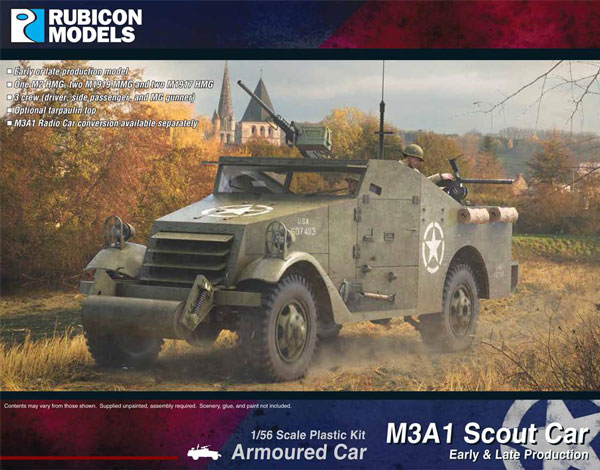 WWII U.S. M3A1 Scout Car (Early & Late Production)