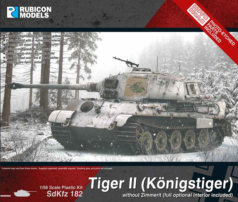 WWII German King Tiger without Zimmerit