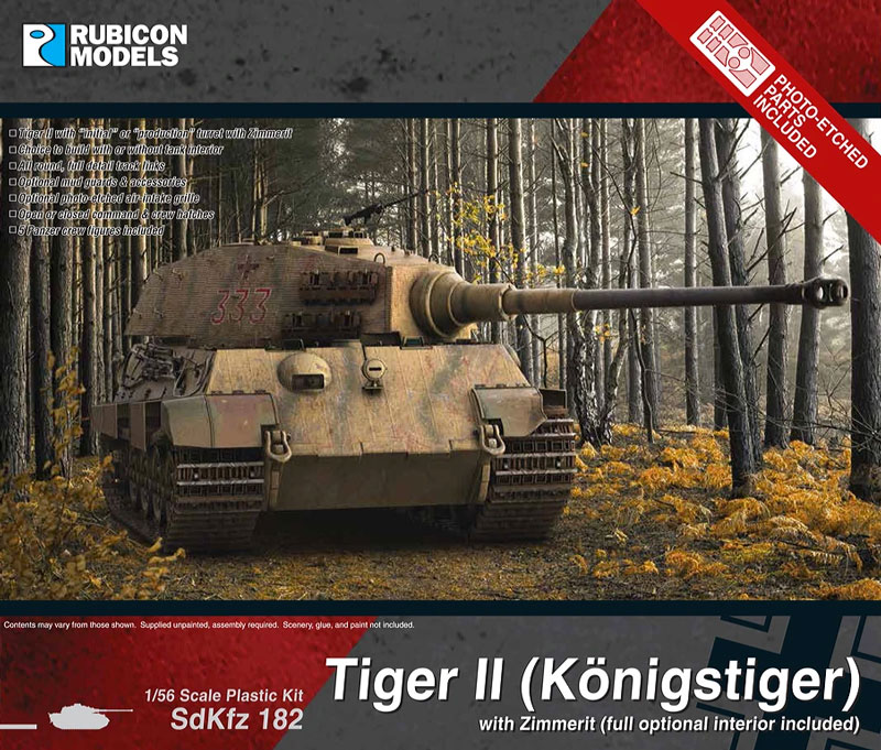 WWII German King Tiger with Zimmerit