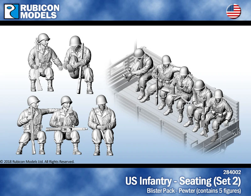 US Infantry Seated (Set 2)- Pewter