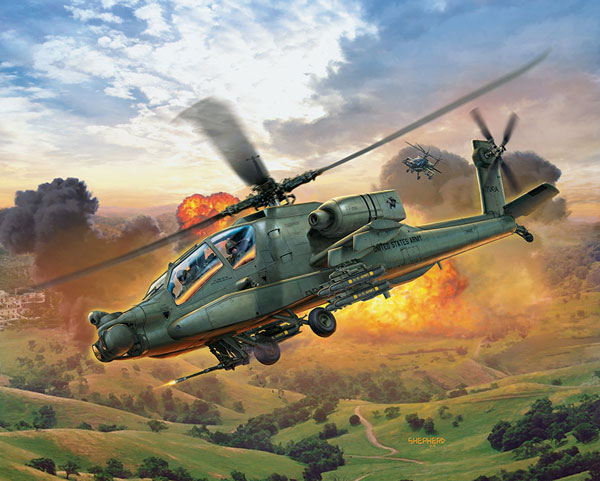 AH64A Apache US Army Combat Helicopter