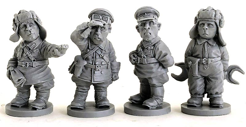 WWII Russian Chibi Tank Crew for Toon Tanks