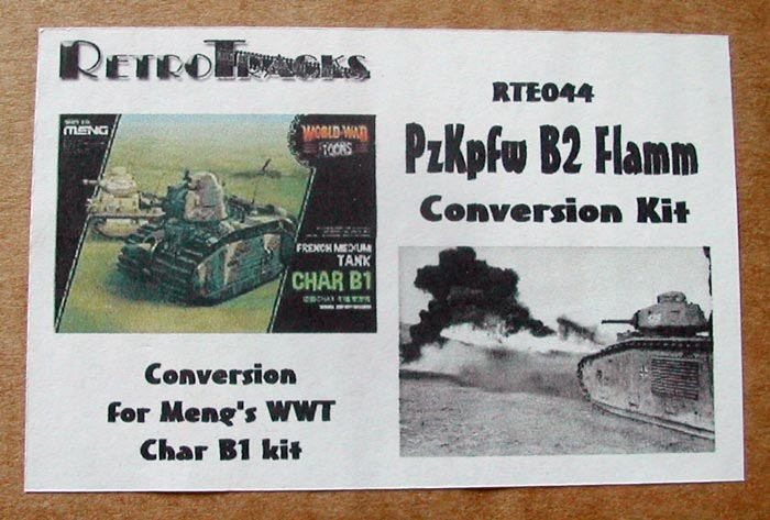 PzKpfw B2 (Flamm) Conversion Kit for Meng Toons Tanks