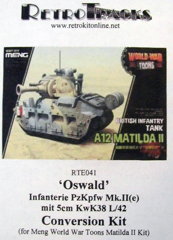 Matilda 'Oswald' Conversion Kit for Meng Toons Tanks