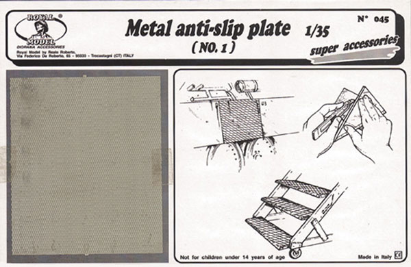 Metal Anti-Slip Plate no. 1 (Photo-Etch)