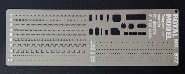Scribing Template Stencils Set for 1/32 Planes (Photo-Etch)