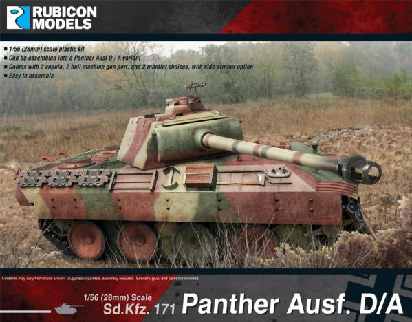 WWII German Panther Ausf D and A