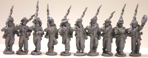 Confederate Infantry Advancing (Right Shoulder Shift) Set 1