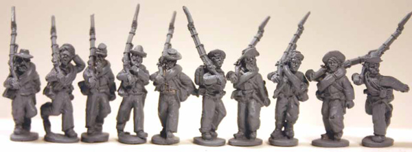 Confederate Infantry Advancing (Right Shoulder Shift) Set 3
