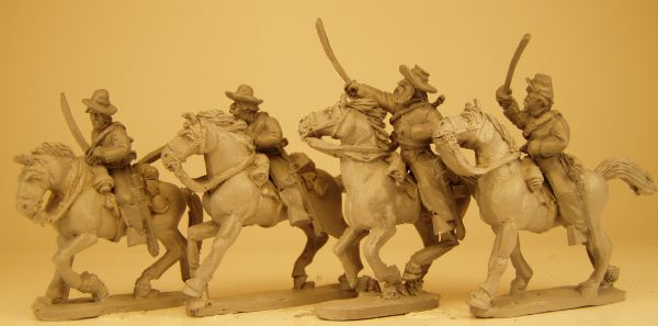 Confederate Cavalry Troopers (Drawn Sabers)