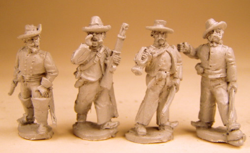 Dismounted Confederate Cavalry Command (4 figs)