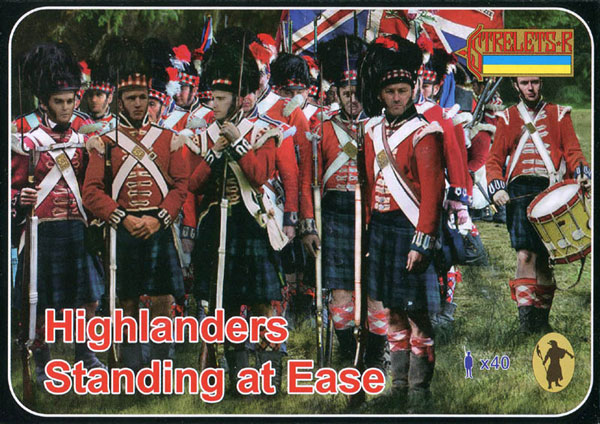Napoleonic Highlanders Standing at Ease