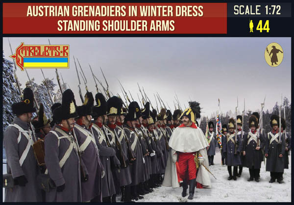 Austrian Grenadiers in Winter Dress Standing Shoulder Arms