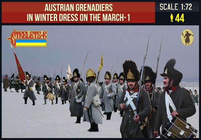 Austrian Grenadiers in Winter Dress on the March 1