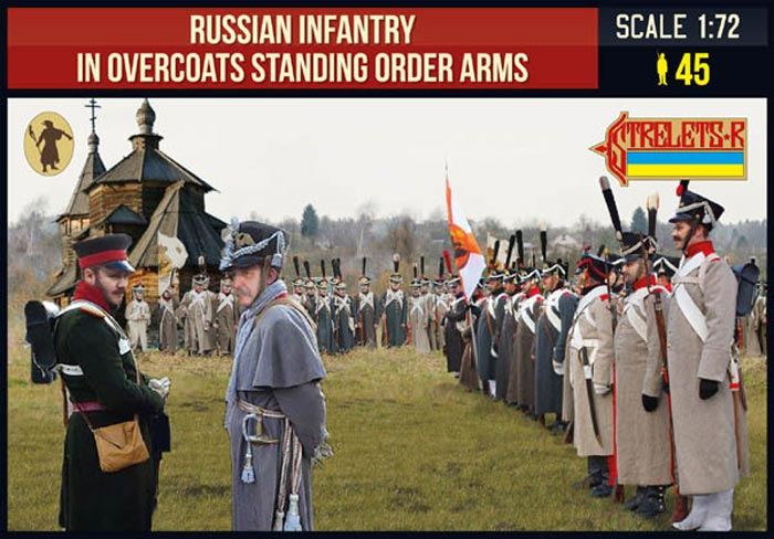 Russian Infantry in Overcoats Standing Order Arms
