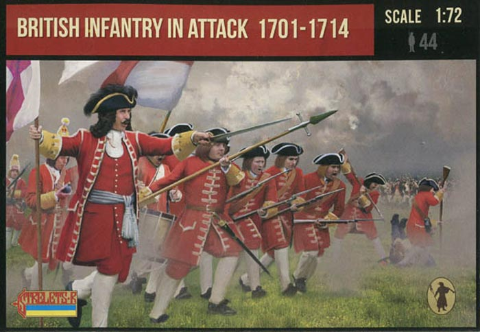 British Infantry in Attack 1701-1714 Spanish Succession War