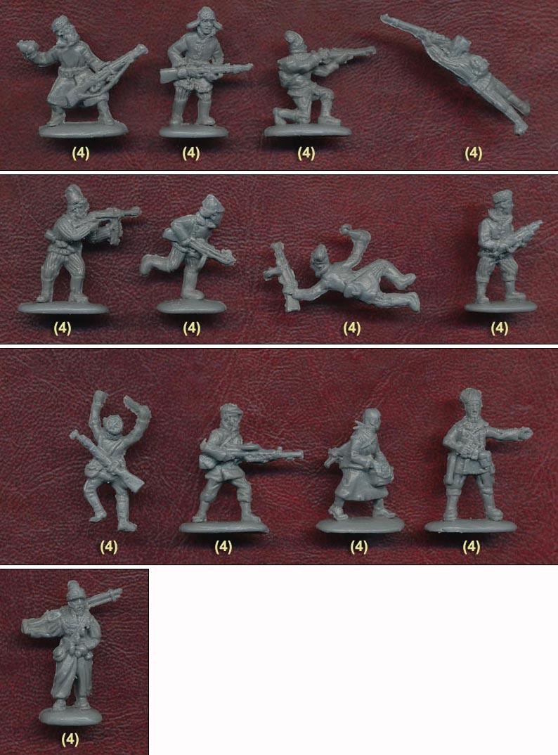 Strelets soviet partisans in winter dress styles