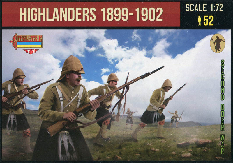 Highlanders in Attack 1899-1902 Anglo-Boer War