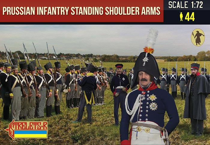 Napoleonic Prussian Infantry Standing Shoulder Arms