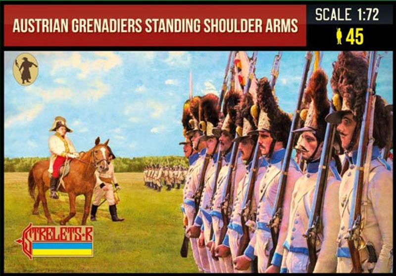 Napoleonic Austrian Grenadiers Standing Shoulder Arms