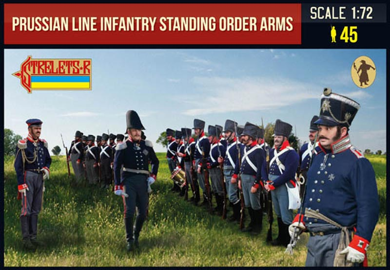 Prussian Line Infantry in Summer Dress standing Order Arms Napoleonic