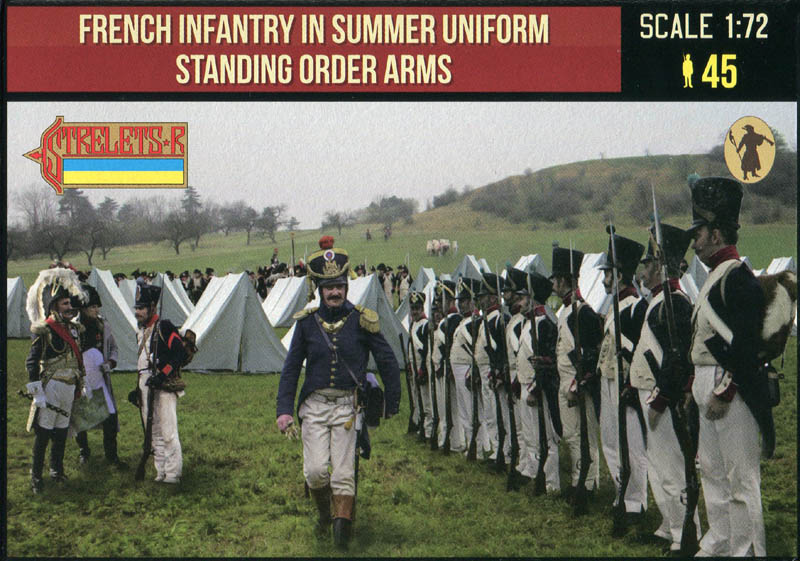 French Infantry in Summer Uniform Standing Order Arms