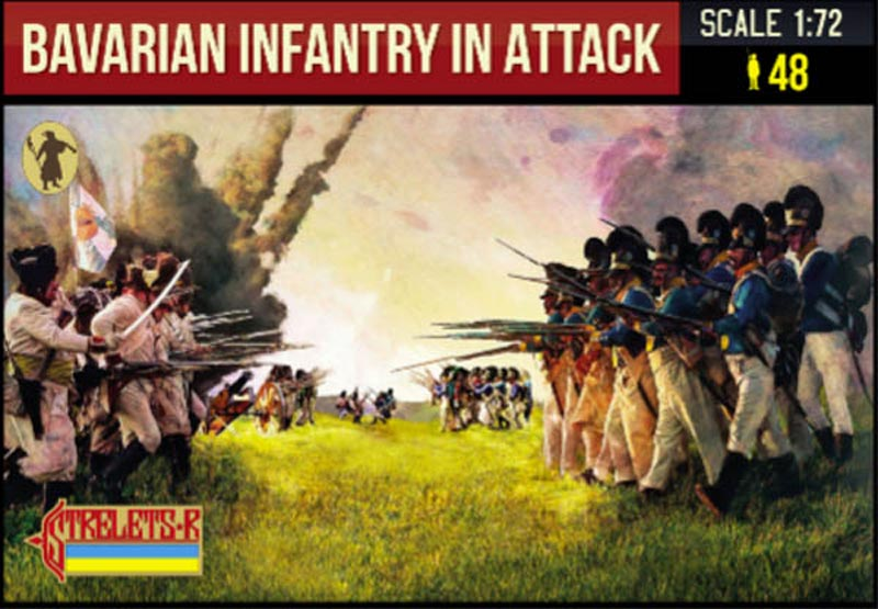 Napoleonic Bavarian Infantry in Attack