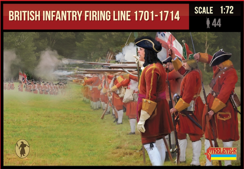 British Infantry Firing Line 1701-1714 Spanish Succession War