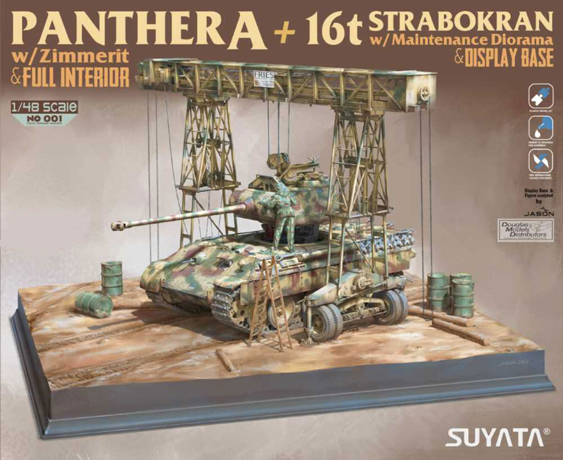 Suyata by Takom - Panther A (Full Interior & Zimmerit) + 16t Strabokran with Maintenance Diorama & Display Base