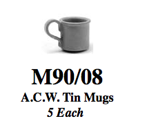 A.C.W. Tin Mugs (5 pc.)