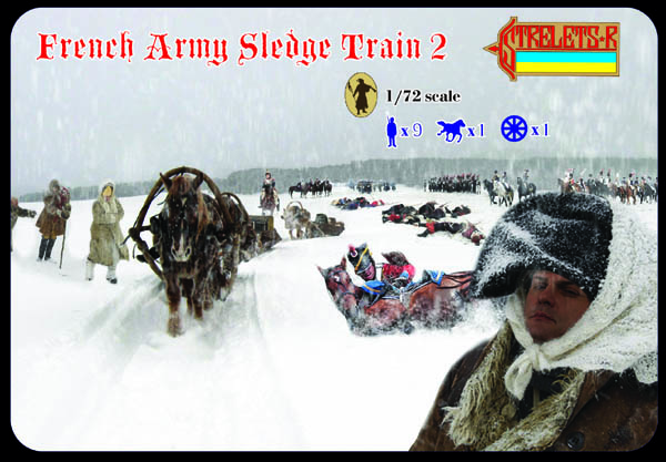 Strelets R - French Army Sledge Train Set 2