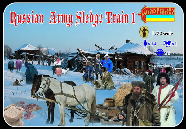 Strelets R - Russian Army Sledge Train Set 1