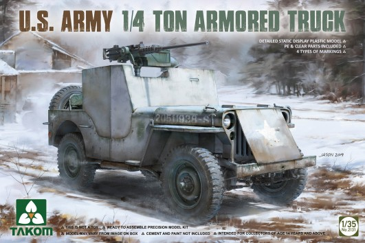 US Army 1/4-Ton Armored Willys Jeep