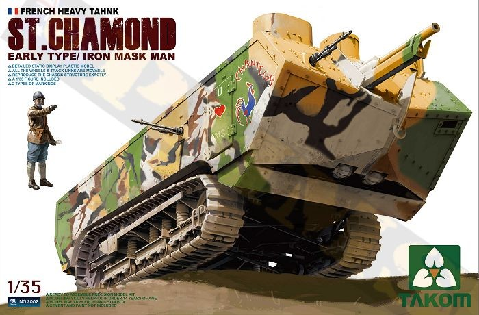 WWI St. Chamond Early Type French Heavy Tank