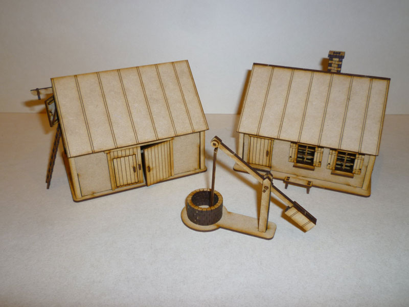 Eastern European Farm Buildings - 1/72nd scale MDF
