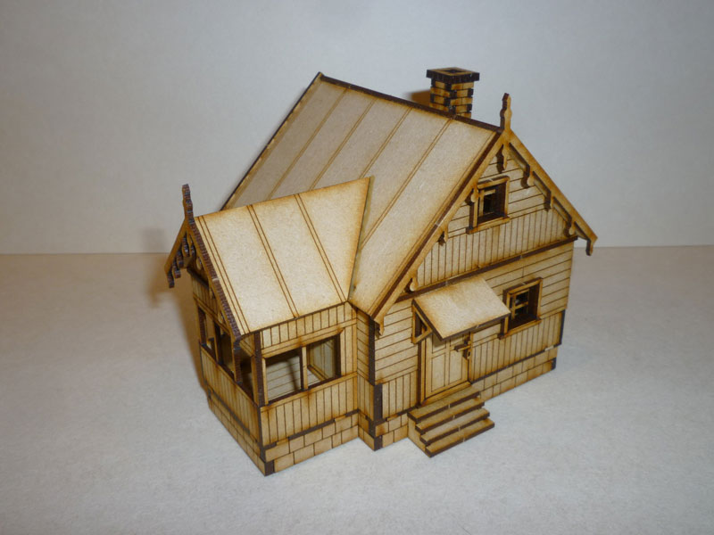 Eastern European House #1 - 1/72nd scale MDF