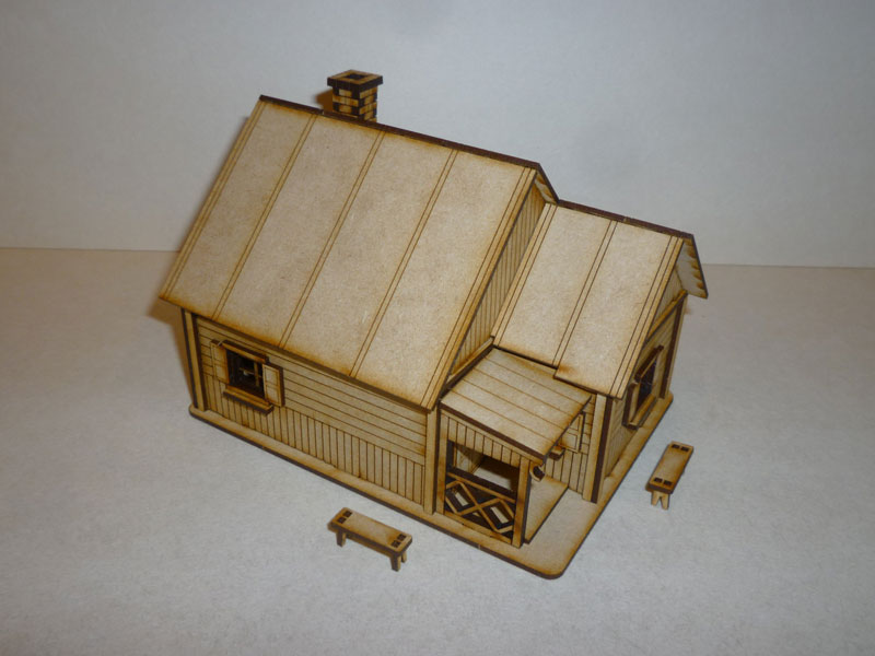 Eastern European House #2 - 1/72nd scale MDF