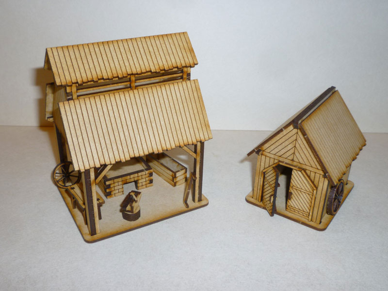 Eastern European Blacksmith Shop & Tool Shed - 1/72nd scale MDF