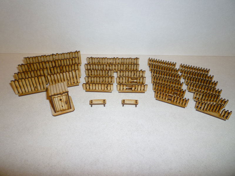 Eastern European Fence Set - 1/72nd scale MDF