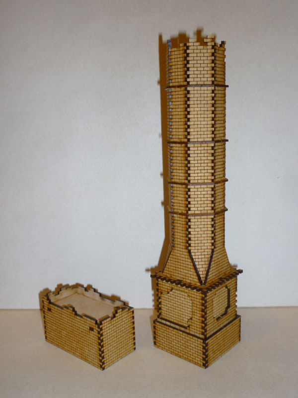 Eastern European Grudinin Mill Chimney - 1/72nd scale MDF