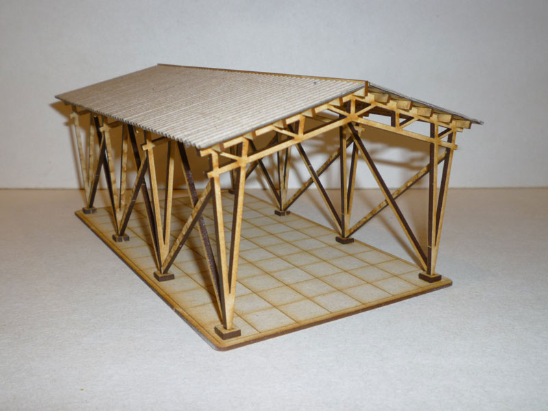 Eastern European Storage Shelter - 1/72nd scale MDF