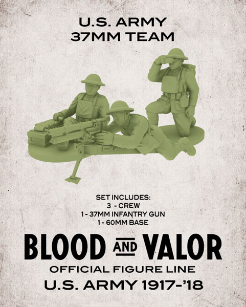 Blood and Valor - US Army 37mm Crew and Gun