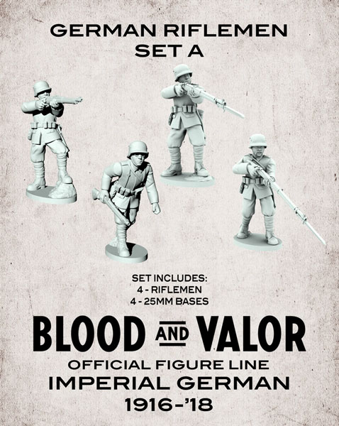Blood and Valor - German Army Riflemen Set A