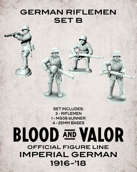 Blood and Valor - German Army Riflemen Set B
