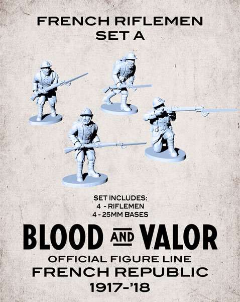 Blood and Valor - French Army Riflemen Set A